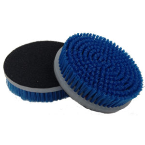 "Nanoskin 5"" Rotary Brush w/ 1.50"" Blue Polypropylene Bristles for Carpets-0"