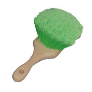 "Nanoskin 8.5"" Flagged-Tips Green Polystyrene Bristles Brushes (12/ Case)-0"